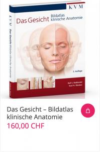 Cover Das Gesicht – Bildatlas klinische Anatomie