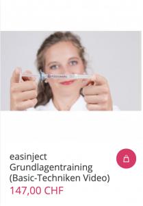 Cover easinject Grundlagentraining (Basic-Techniken Video)