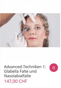 Cover Advanced-Techniken 1: Glabella Falte und Nasolabialfalte